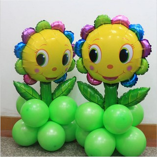 Youyimaoli 66*92cm Cute Sunflower Aluminum Foil Balloons Pillar DIY Party Decoration