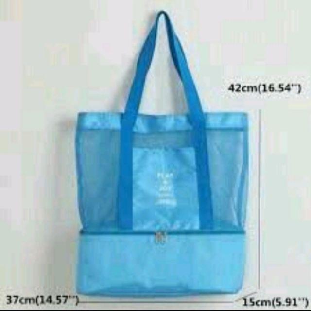 กระเป๋าสัมภาระ+กระเป๋าเก็บอุณหภูมิ Play&Joy (สีฟ้า)