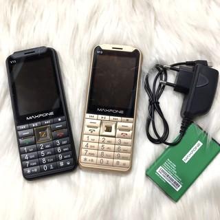 ĐIỆN THOẠI 4 sim MAXFONE V13 – phím to, độc, điện thoại dành cho cả người già, nghe FM KHÔNG CẦN tai nghe