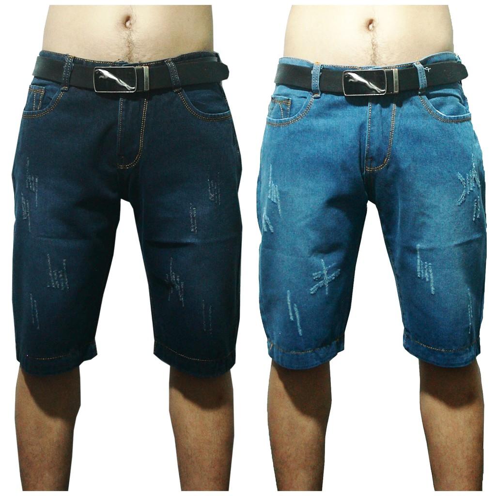 [Freeship từ 99K] Quần short jeans nam wash xước bụi đơn giản (thời trang xước