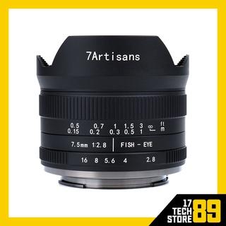 Ống kính 7Artisans 7.5mm F2.8 Fisheye Mark II For Canon EOS-M (Mới 100%) thumbnail