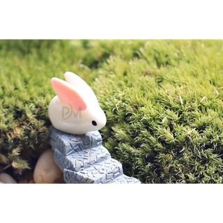Charm thỏ tai dài 2cm _ Nguyên liệu làm slime
