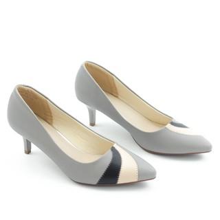 Giày Cao Gót 5cm Gót Nhọn Mix Nhiều Màu Màu Xám Pixie P350 thumbnail