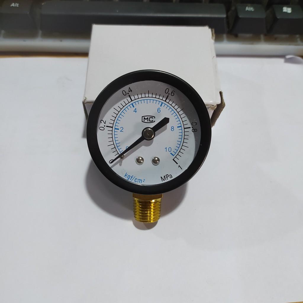 Đồng hồ đo áp suất nước Chân cắm dưới, khí nén, áp kế, van đo áp suất Y50, Đồng chân cắm dưới