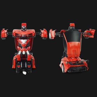 RC car sports shock resistant transformation robot toy remote control car