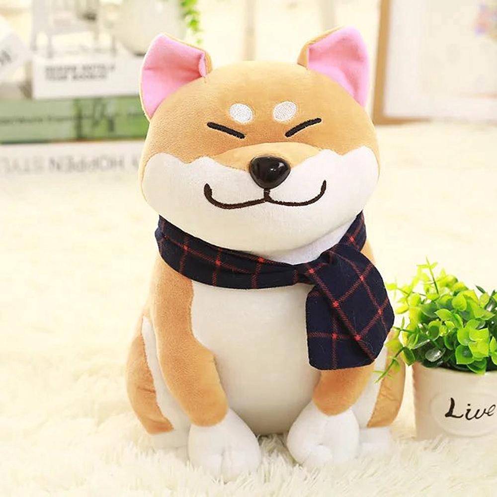 Creative Cute Plush Toy Super Cute Scarf Shiba Inu Doll