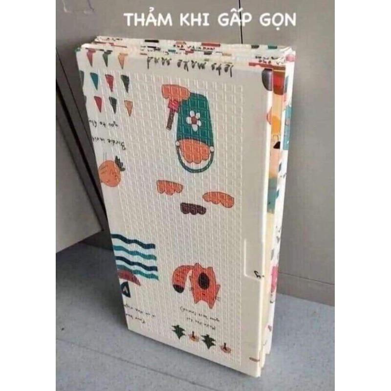 Thảm trải sàn xốp XPE 2 mặt phủ Silicone Hàn Quốc mẫu đẹp chống thấm tuyệt đối, chống ngã, cho...