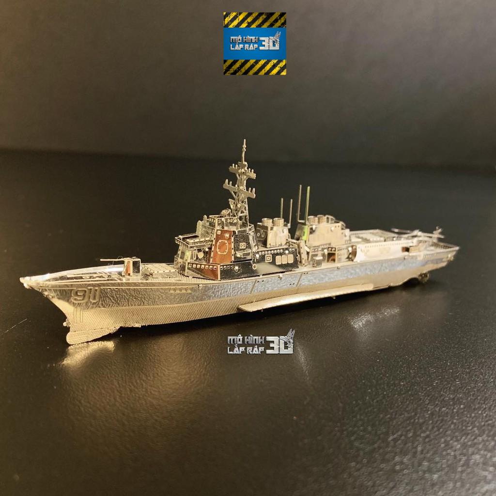 Mô hình 3D kim loại lắp ráp tàu khu trục hạm lớp Arleigh Burke [Chưa lắp]