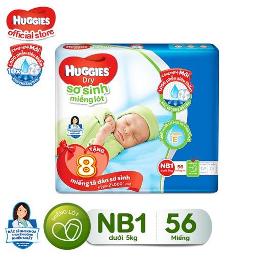 [Tặng thêm 8 miếng] Miếng lót sơ sinh Huggies Dry Newborn 1 (0-5kg) - N56 - 3412074 , 1064911776 , 322_1064911776 , 78000 , Tang-them-8-mieng-Mieng-lot-so-sinh-Huggies-Dry-Newborn-1-0-5kg-N56-322_1064911776 , shopee.vn , [Tặng thêm 8 miếng] Miếng lót sơ sinh Huggies Dry Newborn 1 (0-5kg) - N56