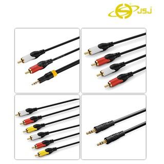 [Mã ELORDER5 giảm 10k đơn 20k] Dây tín hiệu JSJ : 3.5mm Ra 2 Đầu AV, 4 Đầu AV, 6 Đầu AV, 2 Đầu 3.5mm dài 1.5m - 5m