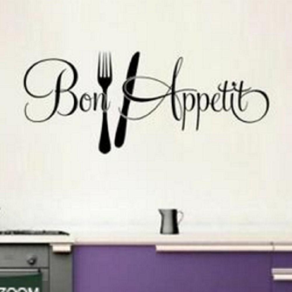 Sticker Dán In Chữ Bon Appetit Cuisine Dùng Để Trang Trí