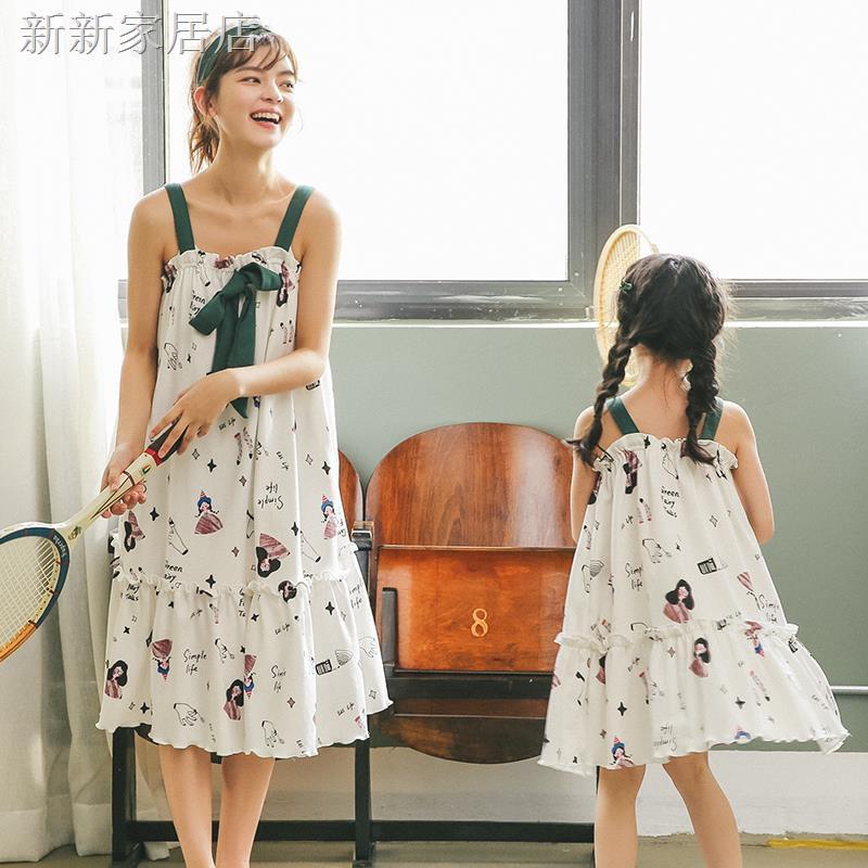 Bộ Đồ Ngủ Thời Trang Bằng Cotton Mỏng Dành Cho Mẹ Và Bé