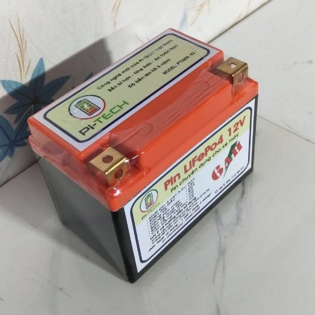 ẮC QUY - PIN LITHIUM THÔNG MINH PI-TECH ( Khởi động xe máy)