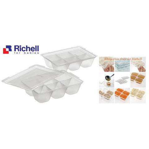 Hộp chia thức ăn Richell có nắp