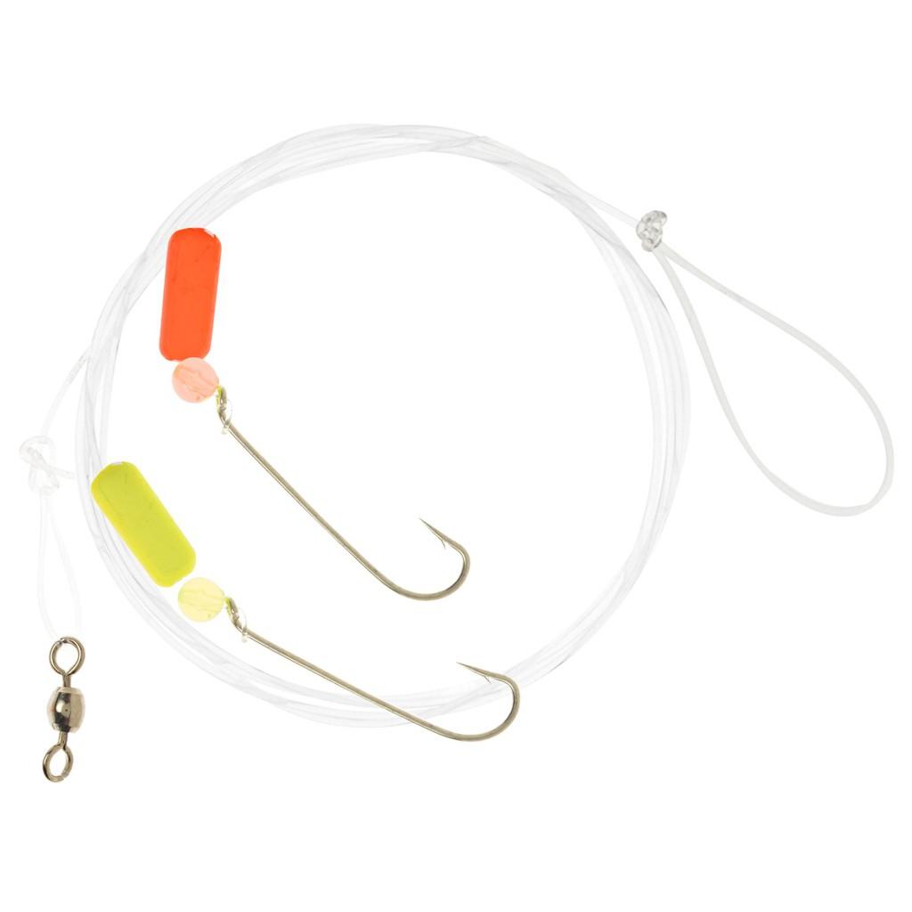 Thẻo câu cá Matzuo gồm 2 lưỡi đơn size 6,phao, hột chặn,khóa ma ní gắn sẵn cước leader siêu bền dài