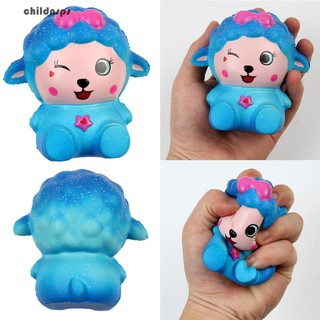 Kawaii Starry Sky Cartoon Sheep Slow Rising Squeeze Decompression Toy Gift