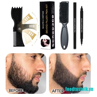 《✿vvvn》Waterproof Beard Fill Pen Kit Salon Facial Hair Makeup Enhancer Whiskers Styling
