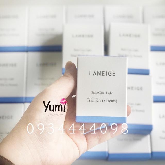 Bộ dưỡng da Laneige Basic Care_ Light Trial Kit 2sp