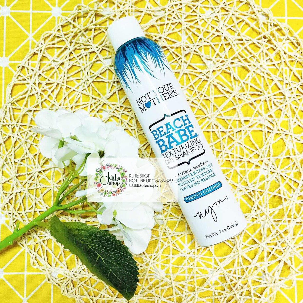 Dầu gội khô Not Your Mother's Beach Babe Texturizing Dry Shampoo Toasted Coconut 198g