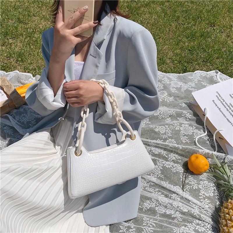 Túi xách nữ ⚜️Freeship⚜️ Túi kẹp nách xích nhựa bản to đeo cực chất và hottrend 2020