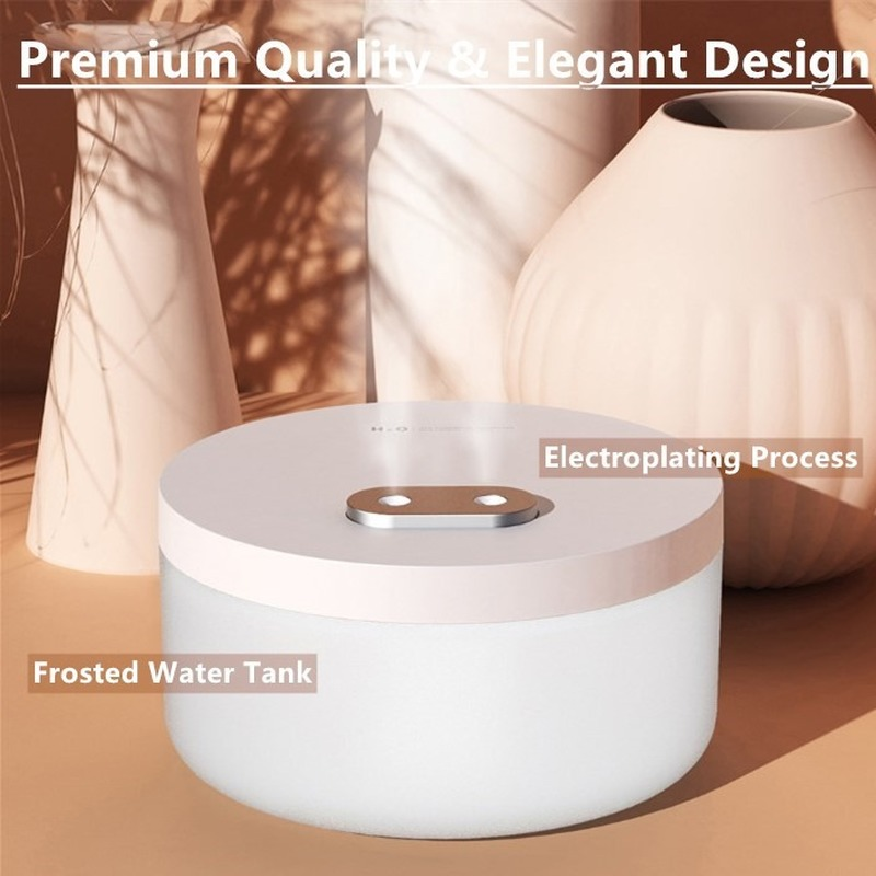 free  2 PC Cotton Sticks 1000/400/260ml Portable Mini Air Humidifier Double Nozzle Cool Mist Aroma Diffuser with Night Light
