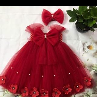 Váy tu tu đỏ nơ