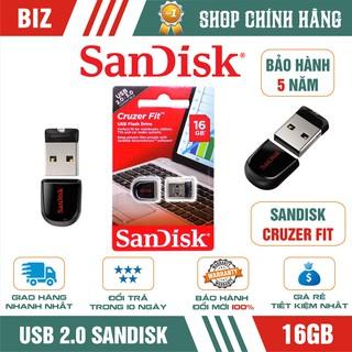 USB 16GB Sandisk Cruzer Fit - Bảo hành 5 năm