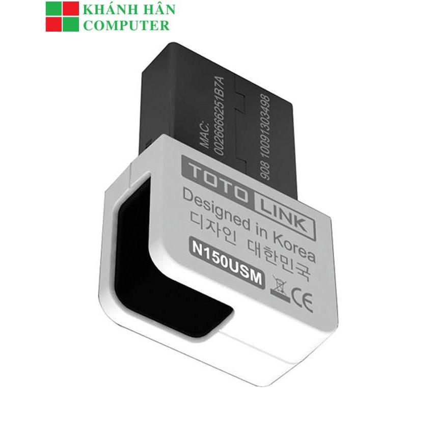 TotoLink N150USM - USB Wifi Chuẩn N Tốc Độ 150Mbps - Bảo hành chính hãng 24 tháng
