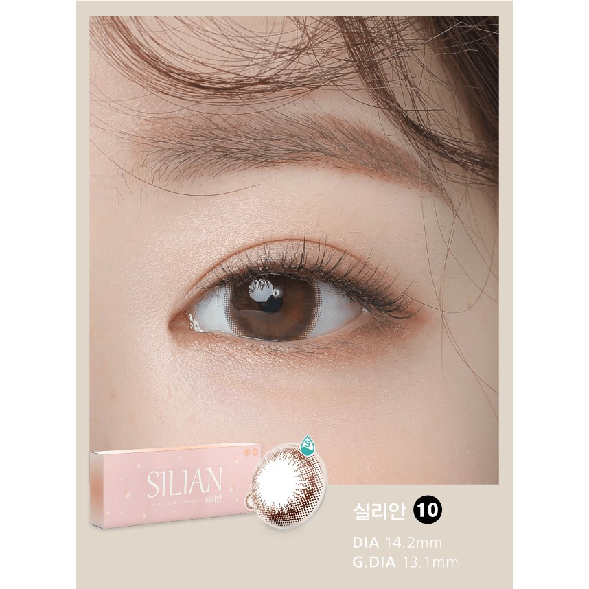 [Siêu ưu Đãi] Kính Áp Tròng Nội Địa Hàn Cho Mắt Nhạy Cảm, Lens Mắt Cận Có Màu Silian Ann...