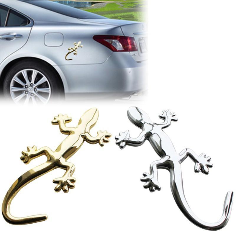 【peninsulaqn】Hình dán con thằn lằn bằng kim loại trang trí xe hơi