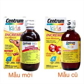 Siro Centrum kids incremin Mixture Cherry Flavour 200ml , úc, mẫu mới thumbnail