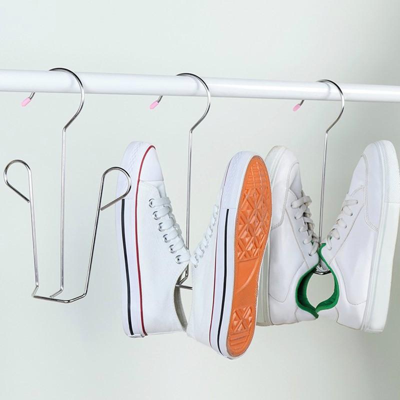 Móc treo phơi giày dép bằng Inox 304 dày 4 li, móc cứng cáp, sắp xếp treo tiện lợi giữ phom giầy MG
