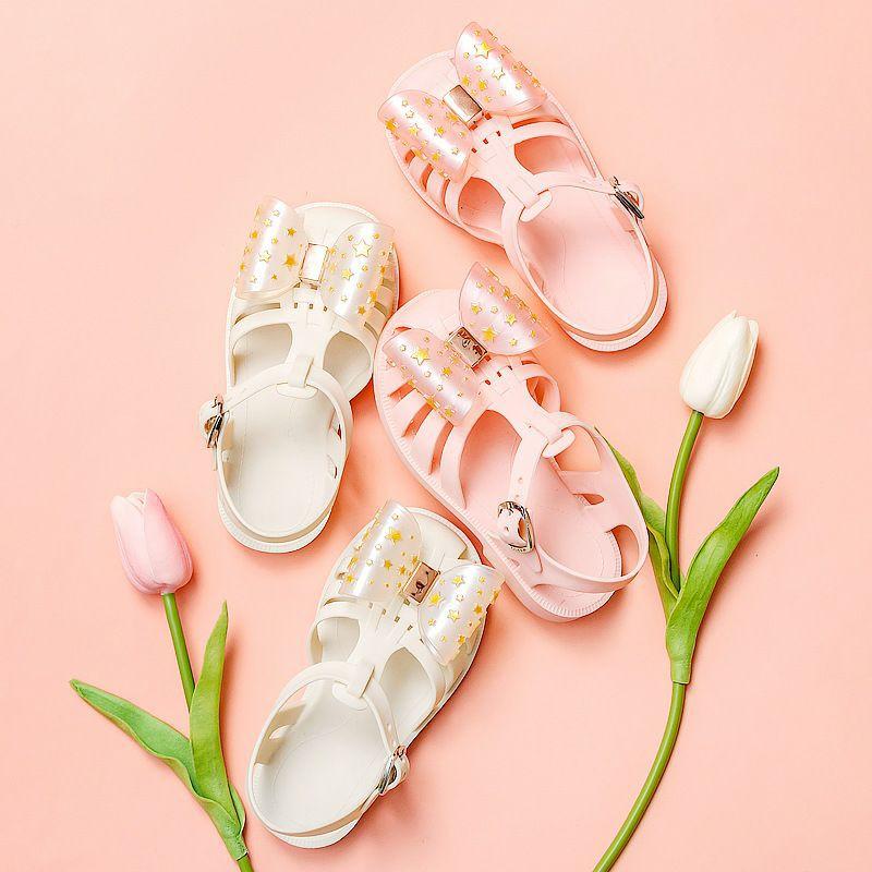 Sandal mario nơ cho bé