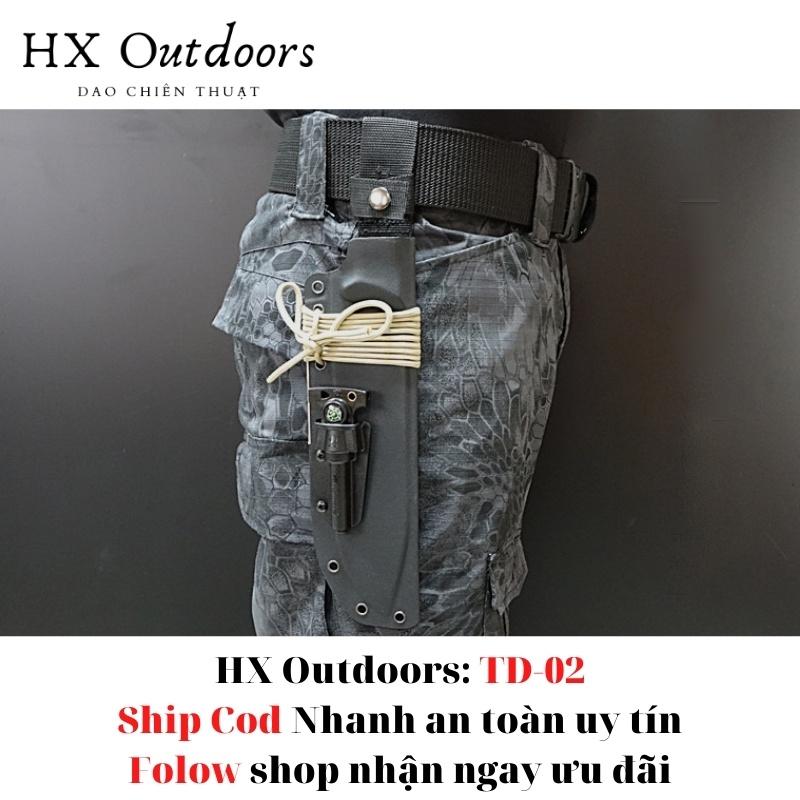 Hx Outdoors TD02  Dụng Cụ Sinh Tồn Dao chiến thuật phượt cắm trại ngoài trời