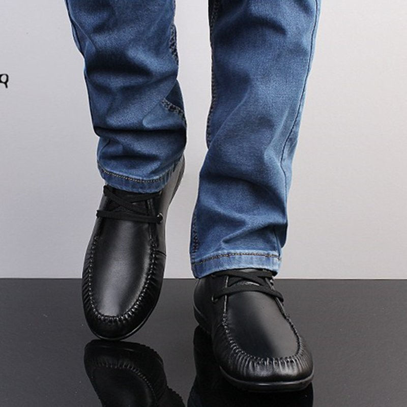 รองเท้า◈♕☍2018 spring new soft-soled breathable leather shoes men's 100 business casual summer Korean version of britis