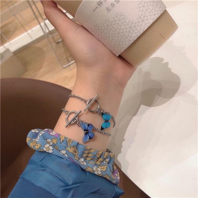 Lắc tay mặt bươm bướm thời trang cho nữ
