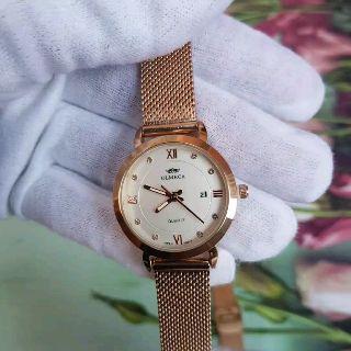 (CHÍNH HÃNG) Đồng hồ nữ OLMECA OL02 Japan có lịch dây nhuyễn cao cấp mặt kính Sapphire AH450