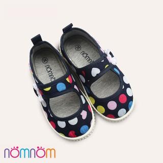 Giày búp bê cho bé gái quai dán NomNom EPG1914 màu xanh