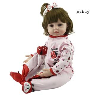 【ezbuy】 NPK 48cm Ladybug Lifelike Reborn Baby Silicone Doll Kids Accompany Toy