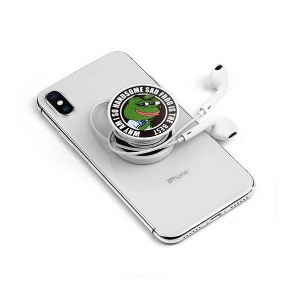 Giá đỡ điện thoại popsocket ếch xanh Pepe siêu bựa dành cho vozer