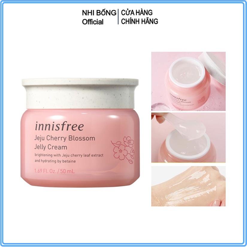 Kem dưỡng ẩm - Kem dưỡng da ban đêm từ hoa anh đào đảo Jeju innisfree Cherry Blossom Jelly Cream Hàn Quốc 50ml