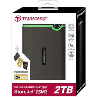 [Mã ELMALL300 giảm 7% đơn 500K] Ổ Cứng Di Động Transcend StoreJet 25M3S 2TB