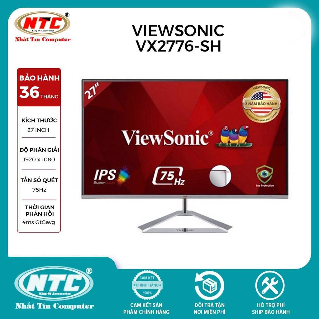 Màn hình máy tính ViewSonic VX2776-SH 27 inch IPS FHD 75Hz Frameless HDMI/VGA (Bạc)