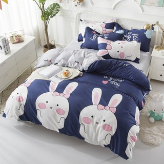 Bộ chăn ga gối Poly Cotton - Thỏ Xanh FS