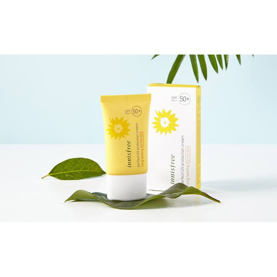 Kem chống nắng Innisfree perfect UV Protection Cream Long Lasting for oily skin SPF 50+ PA+++