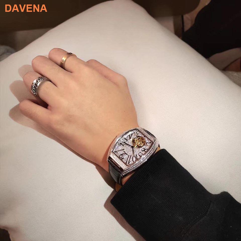 Đồng hồ nam Davena 31681 đồng hồ cơ nam mạnh mẽ