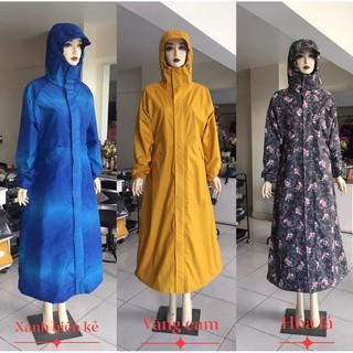 [SIÊU SALE]Áo mưa măng tô nữ chống nước giữ ấm khi mưa to kéo dài nhiều mẫu đẹp size L XL tiện lợi đi xe máy