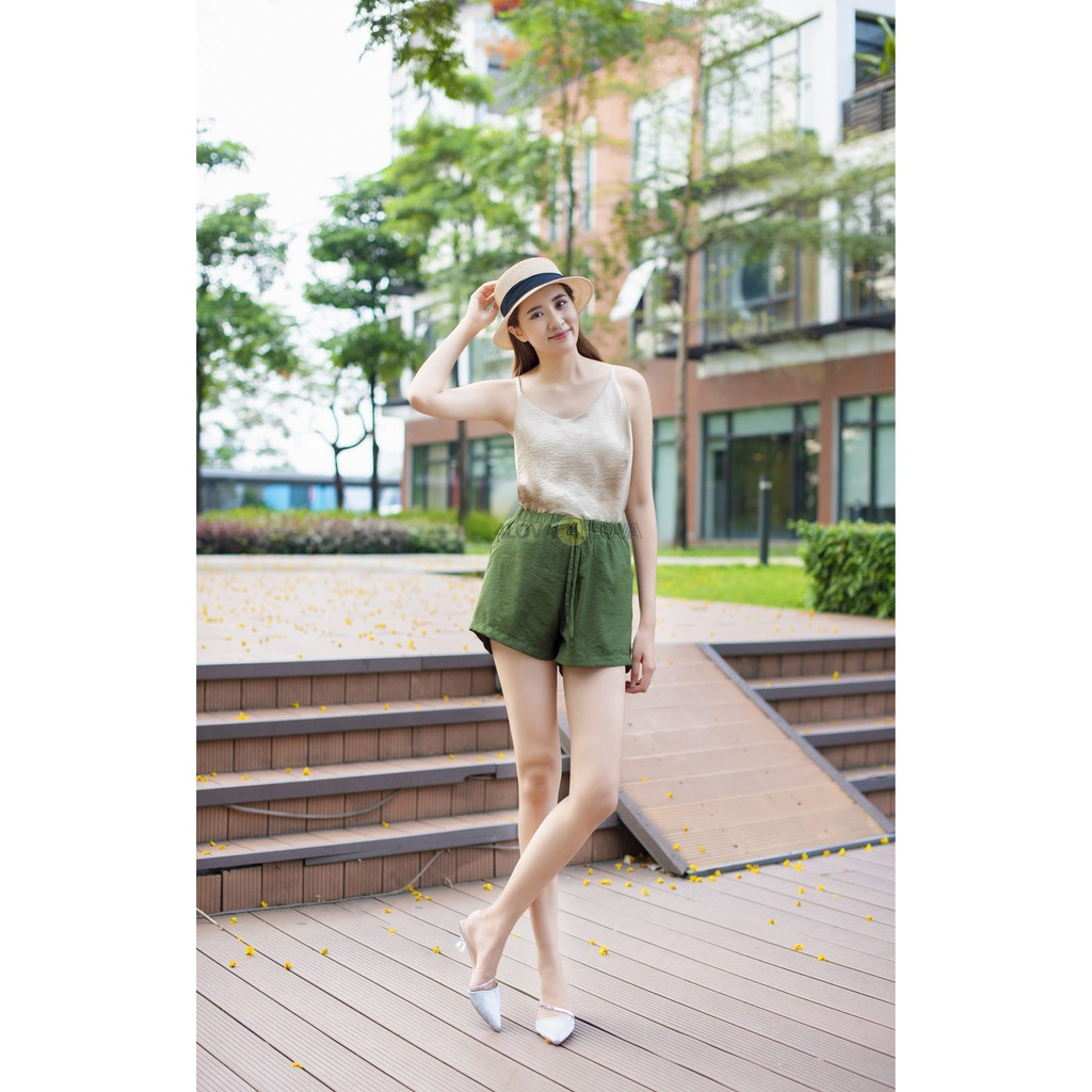 Áo 2 dây chất liệu đũi lụa cao cấp 4LOVA nhiều màu đẹp quyến rũ