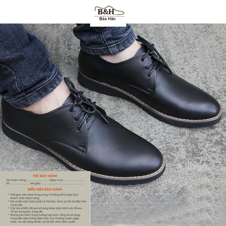 Giày Lười Nam Có Dây Buộc Da Bò Mã BH02