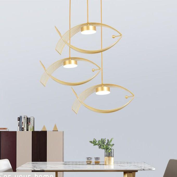 Đèn thả trần trang trí cá vàng hiện đại ấn tượng 6546